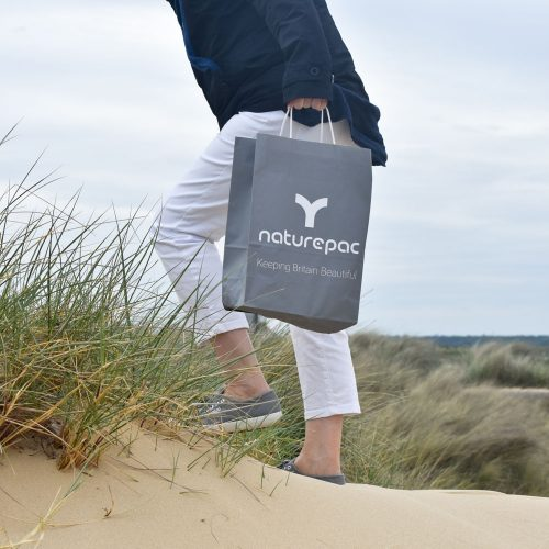Beach photoshoot for biodegradable packaging company, Nature Pac.