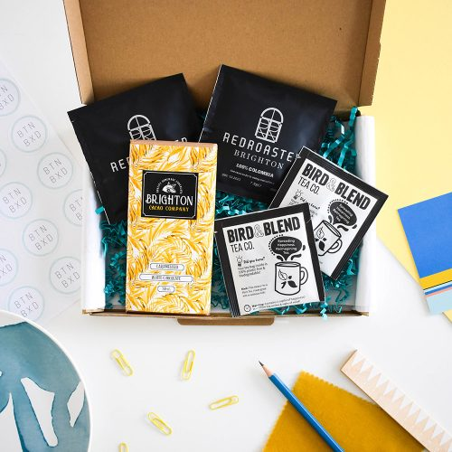 Product photography for gift box company, Brighton Boxed.